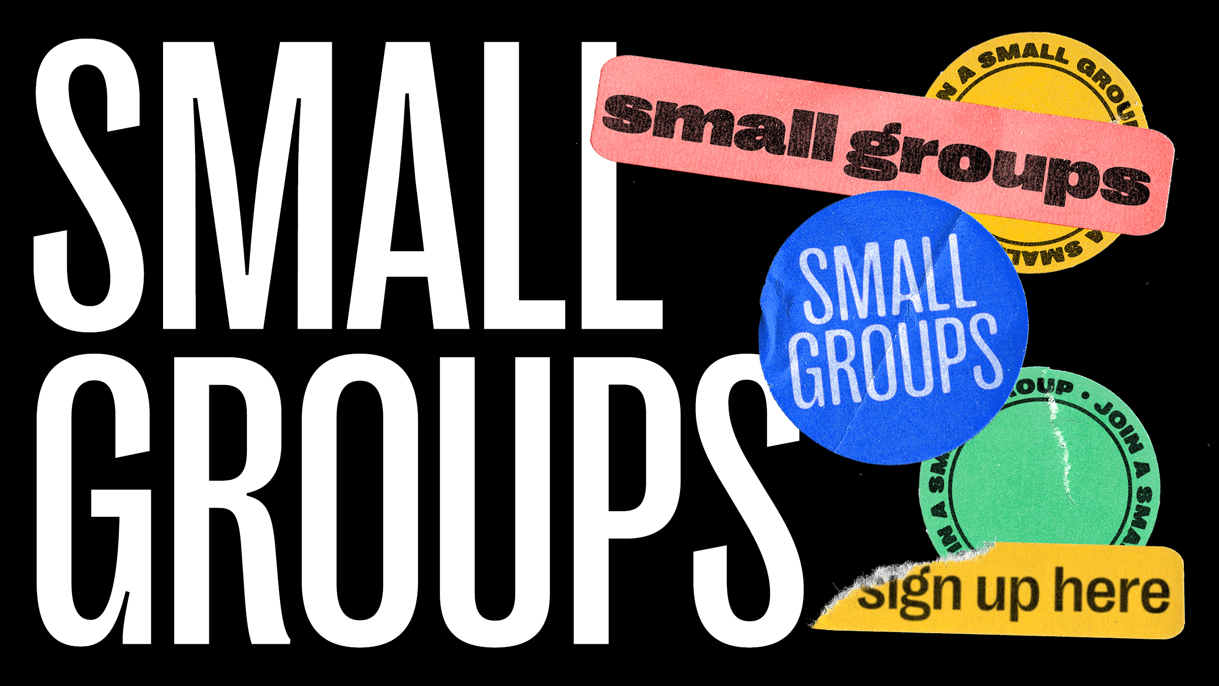 Small Groups start back up January 24